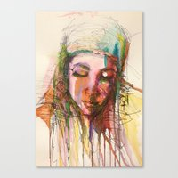 aaliyah Canvas Prints featuring Aaliyah by Tanya ST