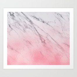 Cotton candy marble Art Print