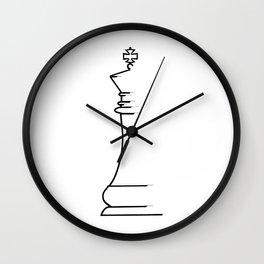 King Chess Piece Wall Clock