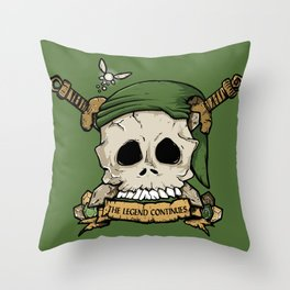 Skull Link Throw Pillow