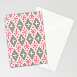 Mid Century Modern Atomic Triangle Pattern 115 Stationery Cards