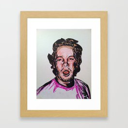 The Man The Myth The Legend Framed Art Print