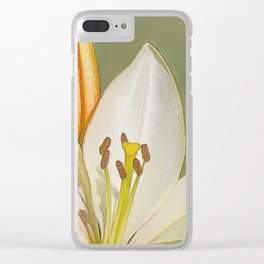 White Lily and Bud (Digital Art) Clear iPhone Case