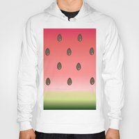 watermelon Hoodies featuring Watermelon by Julia Badeeva