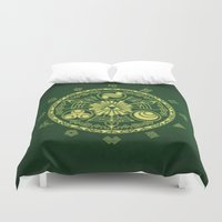 triforce Duvet Covers featuring Zelda Triforce  by DavinciArt