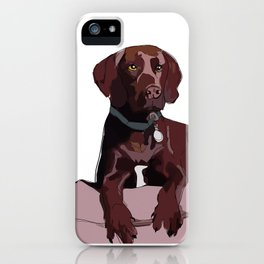 Chocolate Labrador iPhone Case