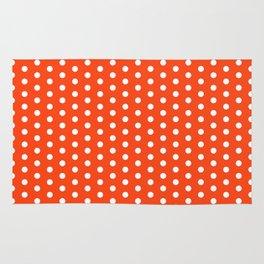 Florida fan university gators orange and blue college sports football dots pattern Rug