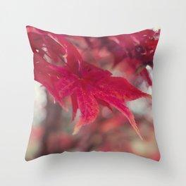 Fire Red Throw Pillow
