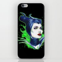 maleficent iPhone & iPod Skins featuring Maleficent by marziiporn