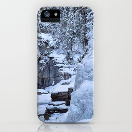 Ice Canyon in Canada iPhone Case