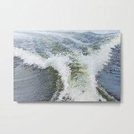 Boat Wake 10 Metal Print