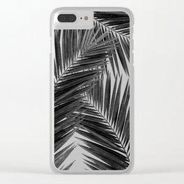 Palm Leaf Black & White III Clear iPhone Case