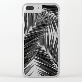Palm Leaf Black & White III Clear iPhone Case