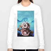 diver Long Sleeve T-shirts featuring Diver by Tony Vazquez