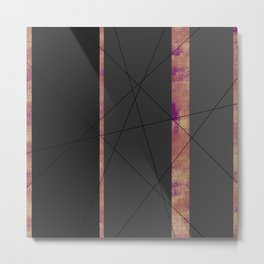 4Shades: Purple Metal Print