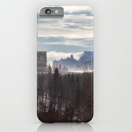 On Top of the Mountain iPhone Case