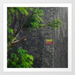 Chemin de randonnée, azores Art Print