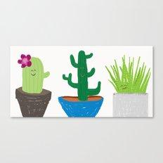 Happy little cacti Canvas Print