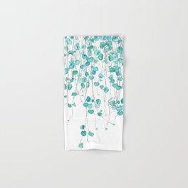 string of hearts watercolor Hand & Bath Towel