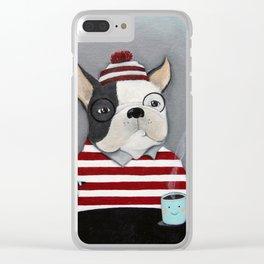 Waldo the Boston Terrier Clear iPhone Case