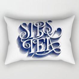 Sips Tea Rectangular Pillow