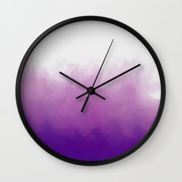 Ultraviolet Splash Wall Clock