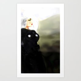 Art Black Art Print