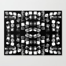Stamp Black and White Canvas Print