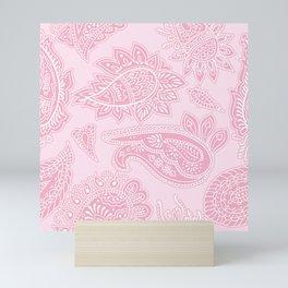 PINK PAISLEY PATTERN Mini Art Print