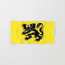 Flag of Flanders - Belgium,Belgian,vlaanderen,Vlaam,Oostende,Antwerpen,Gent,Beveren,Brussels,flamish Hand & Bath Towel