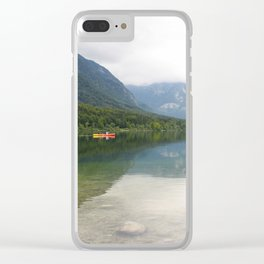 Kayaking on Lake Bohinj Clear iPhone Case