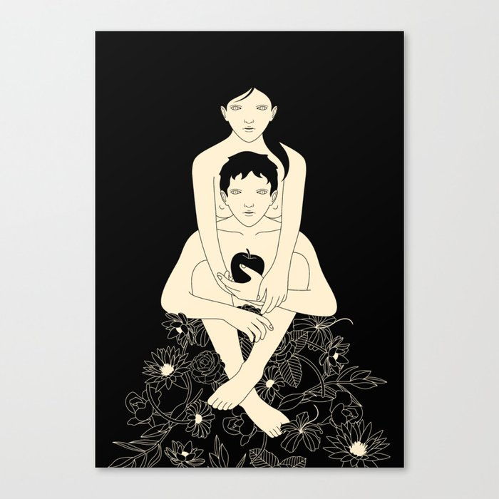 Eve and Adam Canvas Print