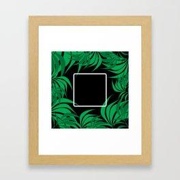 Square Leaf Framed Art Print
