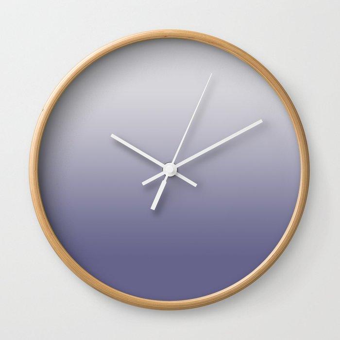 Twilight Purple Nimbus Cloud Ombre Wall Clock