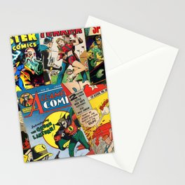 Comics Collage Stationery Cards