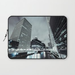 Cityscape River Night Photography Print Chicago Metropolis Laptop Sleeve