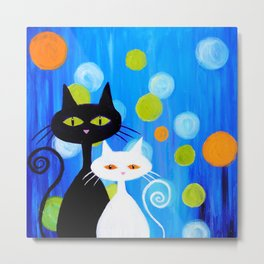 Fancy Cats Metal Print