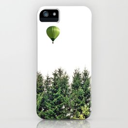 Float Away - Hot Air Balloon Forest Photograph iPhone Case