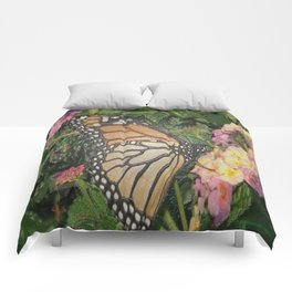 Monarch Butterfly Abstract Comforters