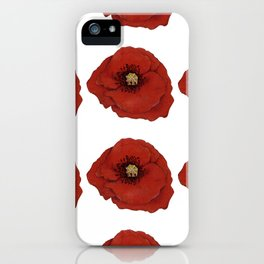 I Adore Poppies iPhone Case