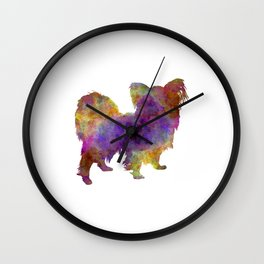 Papillon in watercolor Wall Clock