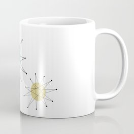 Franciscan Starburst Turquoise Yellow Mid Century Coffee Mug