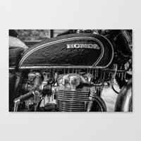 honda Canvas Prints featuring Frozen Honda by David Cantatore
