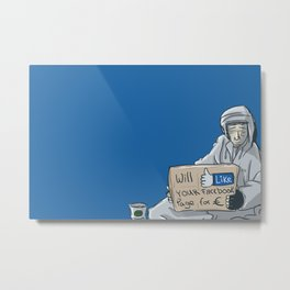 Will like your Facebook page for € Metal Print