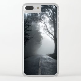 Smokey road Clear iPhone Case