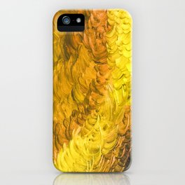 Fever And Feathers, Yellow iPhone Case