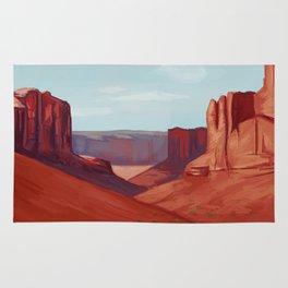 Red Landscape Rug