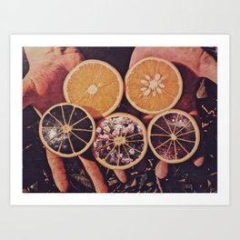 Naranjas Ciderales Art Print