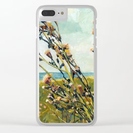 Thistles on the Beach Clear iPhone Case