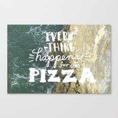 everything happens... Canvas Print